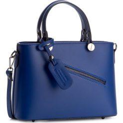 Torebka CREOLE - K10222 Kobaltowy. Niebieskie torebki klasyczne damskie Creole, ze skóry, duże. W wyprzedaży za 209,00 zł.
