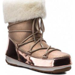 Śniegowce MOON BOOT - Rose Mirror 24008200001 Pink. Czerwone buty zimowe damskie Moon Boot, z nubiku. Za 1549,00 zł.