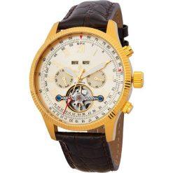 """Zegarki męskie: Zegarek """"Malabo"""" w kolorze ciemnobrązowo-złotym"""