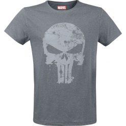 The Punisher Faded Logo T-Shirt szary. Niebieskie t-shirty męskie z nadrukiem marki Reserved, l, z okrągłym kołnierzem. Za 79,90 zł.