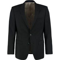 Bugatti SLIM FIT Marynarka garniturowa black. Czarne marynarki męskie slim fit Bugatti, z materiału. Za 999,00 zł.
