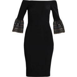 Coast ADRIANA STRIPE BELL SLEEVE Sukienka koktajlowa black. Czarne sukienki koktajlowe marki Coast, z elastanu. W wyprzedaży za 483,45 zł.