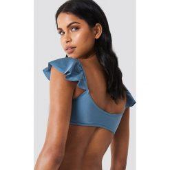 Trendyol Góra bikini z falbankami - Blue. Niebieskie bikini Trendyol. W wyprzedaży za 50,48 zł.