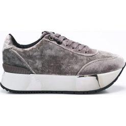 Calvin Klein Jeans - Buty Cate. Szare buty sportowe damskie marki Calvin Klein Jeans, z jeansu. W wyprzedaży za 429,90 zł.