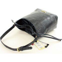 Torebki worki: ZOE Stylowa torebka worek granatowa