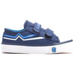 Niebieskie Trampki Happily. Niebieskie buty sportowe chłopięce Born2be, z materiału, z okrągłym noskiem. Za 59,99 zł.