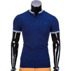 KOSZULKA MĘSKA POLO BEZ NADRUKU S843 - GRANATOWA. Niebieskie koszulki polo Ombre Clothing, m, z nadrukiem. Za 29,00 zł.