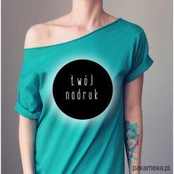 Koszulka z Twoim nadrukiem Wybierz kolory. Zielone bluzki oversize Pakamera, s, z nadrukiem. Za 85,00 zł.