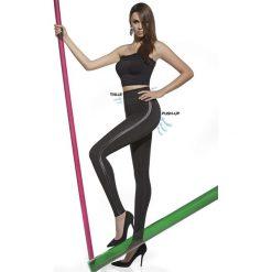 Mid-Kompresyjne legginsy Angelica z Push-Up efektem. Szare legginsy skórzane Astratex, w prążki. Za 105,99 zł.