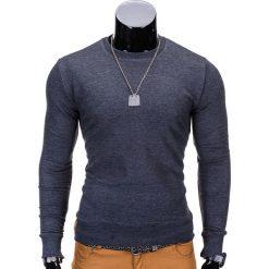 BLUZA MĘSKA BEZ KAPTURA B700 - GRAFITOWA. Szare bluzy męskie marki Ombre Clothing, m, z bawełny, bez kaptura. Za 59,00 zł.