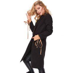Klasyczny płaszcz flauszowy oll52. Czarne płaszcze damskie pastelowe LaLa, s, klasyczne. Za 279,00 zł.