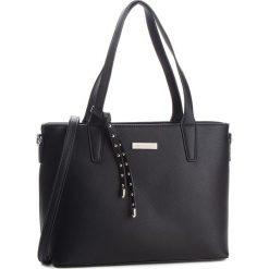 Torebka MONNARI - BAG0800-020 Black. Brązowe torebki klasyczne damskie marki Monnari, w paski, z materiału, średnie. W wyprzedaży za 209,00 zł.
