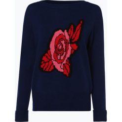 SvB Exquisit - Sweter damski z dodatkiem kaszmiru, niebieski. Niebieskie swetry klasyczne damskie SvB Exquisit, z kaszmiru. Za 549,95 zł.