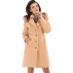 Płaszcz w kolorze beżowym. Brązowe płaszcze damskie pastelowe Rylko by Agnes & Paul. W wyprzedaży za 339,95 zł.