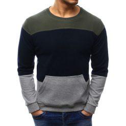 Swetry klasyczne męskie: Sweter męski szaro-granatowy (wx1030)