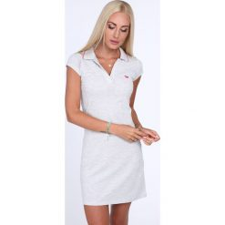Sukienka polo jasnoszara 4590. Szare sukienki Fasardi, xl, polo. Za 59,00 zł.