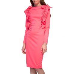 Sukienki hiszpanki: Sukienka w kolorze neonoworóżowym