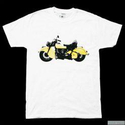 Koszulka T-MOTOR yellow. Żółte t-shirty męskie marki Mohito, l, z dzianiny. Za 77,00 zł.