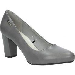 Szare czółenka na słupku Sergio Leone 12735. Czarne buty ślubne damskie marki Sergio Leone. Za 95,99 zł.