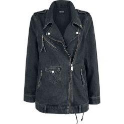 Disturbia Rebel Denim Biker Jacket Kurtka jeansowa damska czarny. Czarne bomberki damskie Disturbia, m, z denimu. Za 244,90 zł.