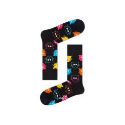 Skarpetki Happy Socks - Animal (MJA01-9001). Szare skarpetki męskie Happy Socks, w kolorowe wzory, z bawełny. Za 34,90 zł.