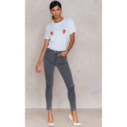 Rurki damskie: Glamorous Rurki z rozdarciami na kolanach – Grey