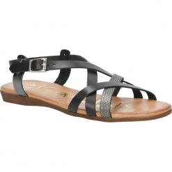 Sandały skórzane Oh My Sandals 3439. Szare sandały damskie marki Oh My Sandals. Za 119,99 zł.