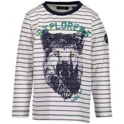 Blue Seven T-Shirt W Paski Dla Chłopców 92 Biały/Niebieski. Białe t-shirty chłopięce Blue Seven, w paski, z bawełny. Za 49,00 zł.