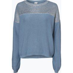 Swetry klasyczne damskie: BOSS Casual – Sweter damski z dodatkiem jedwabiu – Wennie, niebieski