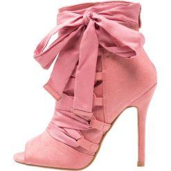 Botki damskie lity: BEBO BRYNA  Botki na obcasie dusky pink