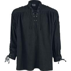Leonardo Carbone Mittelalter-Schnürhemd mit Ösen Koszula czarny. Czarne koszule męskie Leonardo Carbone, s, z materiału, z długim rękawem. Za 144,90 zł.