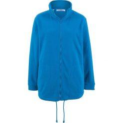 Bluza rozpinana z polaru, długi rękaw bonprix lazurowy niebieski. Niebieskie bluzy polarowe marki bonprix, z nadrukiem. Za 79,99 zł.