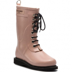 Kalosze ILSE JACOBSEN - RUB15 Adobe Rose 378. Brązowe buty zimowe damskie marki Alma en Pena, z materiału, na obcasie. W wyprzedaży za 429,00 zł.