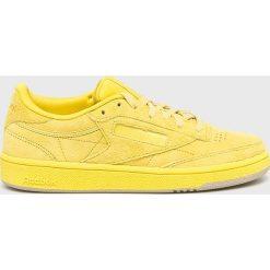 Reebok - Buty Club C 85. Szare buty sportowe damskie marki Reebok, l, z dzianiny, z okrągłym kołnierzem. Za 379,90 zł.