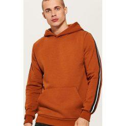 Bluza z lampasami - Brązowy. Czarne bluzy męskie rozpinane marki House, l, z nadrukiem. Za 99,99 zł.
