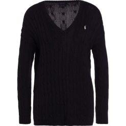 Polo Ralph Lauren SIDE SLIT Sweter polo black. Czarne swetry klasyczne damskie Polo Ralph Lauren, xs, z bawełny, polo. Za 629,00 zł.