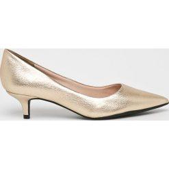 Answear - Czółenka. Szare buty ślubne damskie marki ANSWEAR, z materiału, na obcasie. W wyprzedaży za 189,90 zł.