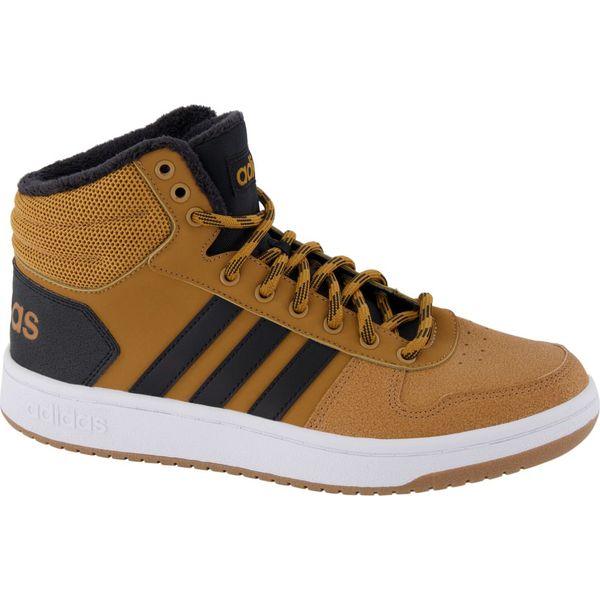 brązowe sneakersy męskie adidas Hoops 2.0 Mid adidas beżowe