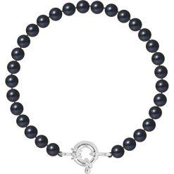 Bransoletki damskie: Bransoletka w kolorze czarno-srebrnym z pereł