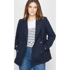 Płaszcze damskie pastelowe: Płaszcz dwurzędowy z sukna 42% wełny