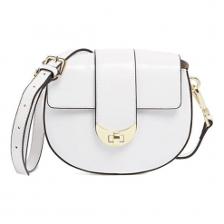 Torebka w kolorze białym - (S)18 x (W)15 x (G)7 cm. Białe torebki klasyczne damskie Tosca Blu, w paski, z materiału. W wyprzedaży za 349,95 zł.