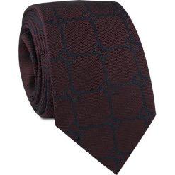 Krawat jedwabny KWAR000230. Brązowe krawaty męskie marki Top Secret, w kropki, eleganckie. Za 129,00 zł.