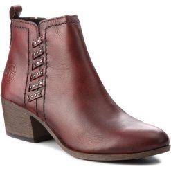 Botki MARCO TOZZI - 2-25320-31 Bordeaux Ant. 507. Czerwone buty zimowe damskie marki Marco Tozzi, ze skóry. Za 239,90 zł.