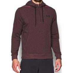 Bluzy męskie: Under Armour Bluza Męska Threadborne 1/2 Zip Hoodie Bordowa r. S (1299135-963)