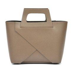 Torebki i plecaki damskie: Skórzana torebka w kolorze fango – (S)25 x (W)40 x (G)12 cm