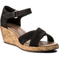 Rzymianki damskie: Sandały CLARKS – Un Plaza Cross 261336594 Black Nubuck