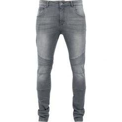 Urban Classics Slim Fit Biker Jeans Jeansy szary. Niebieskie jeansy męskie relaxed fit marki Urban Classics, l, z okrągłym kołnierzem. Za 164,90 zł.