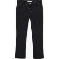 Mango - Jeansy Jandri. Czarne proste jeansy damskie Mango. Za 139,90 zł.