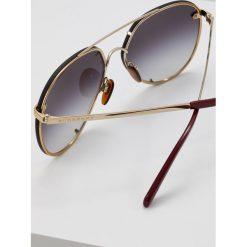 Burberry Okulary przeciwsłoneczne light goldcoloured/grey gradient. Żółte okulary przeciwsłoneczne damskie lenonki Burberry. Za 819,00 zł.