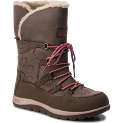 Śniegowce JACK WOLFSKIN - Rhode Island Texapore High G 4016762 Siltstone. Czarne buty zimowe damskie marki Jack Wolfskin, w paski, z materiału. Za 369,99 zł.